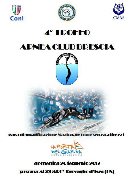 4 trofeo apnea club brescia sub club brescia for Piscina fantecolo
